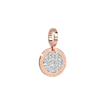 Charm con diamantatura bianca