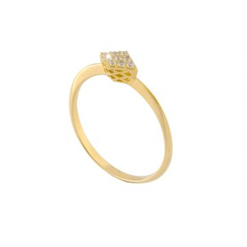 Anello Matelassè in oro 18kt e diamanti
