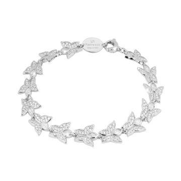 Bracciale Diana con farfalle in cristalli