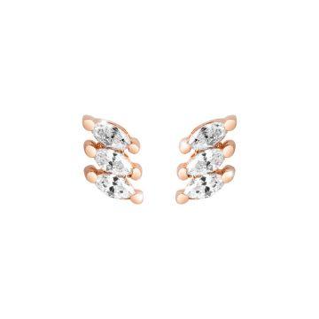 Orecchini Diana con tre cristalli