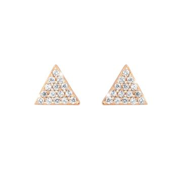 Orecchini Diana con triangolo in cristalli