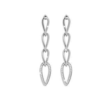 Orecchini in argento con quattro maglie e pietre