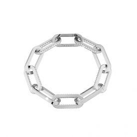 Bracciale Stockholm con maxi catena e cristalli