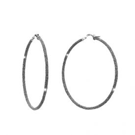 Orecchini Jolie a cerchio in argento rivestiti di polvere di diamanti